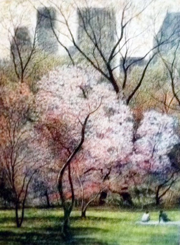 Spring Blossoms, New York AP 1987