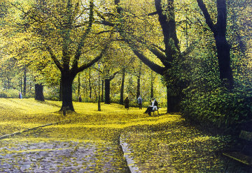 Autumn Parc Montsouris 1985 Limited Edition Print - Harold Altman