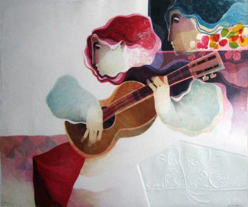 Guitarra Musical 1996 Limited Edition Print - Sunol Alvar