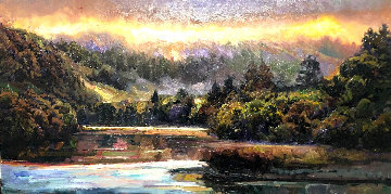 Hidden Cove 2006 12x24 Original Painting - Brooks Anderson