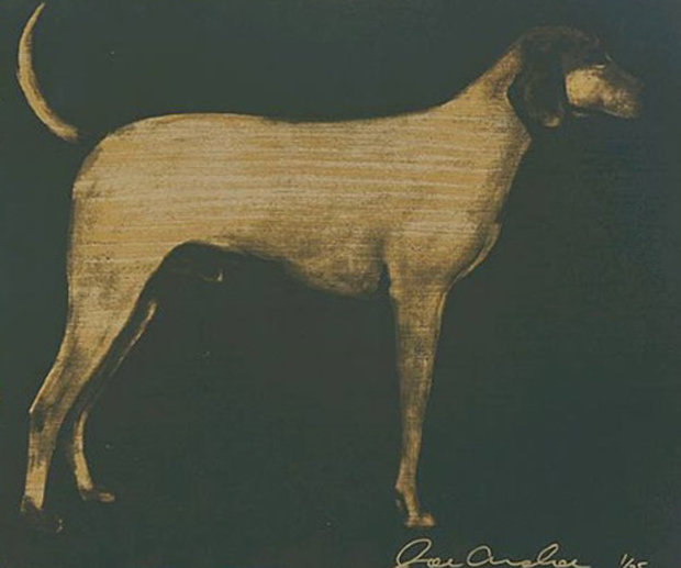 Medium Dog (Olive Green And Byzantine Gold) 1998