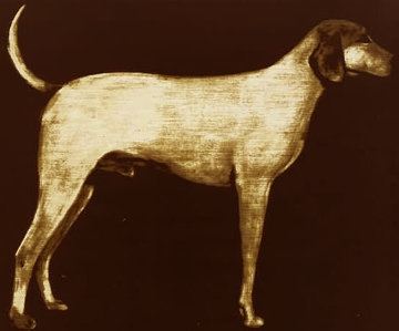 Medium Dog (Rust) 1998 Limited Edition Print - Joe Andoe