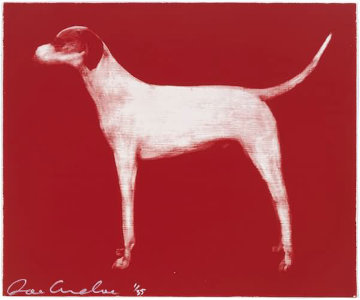 Small Dog (Red, Putty, and Chocolate) Limited Edition Print - Joe Andoe