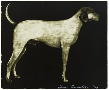 Medium Dog (Olive, Rust, and Burgundy) 1998 Limited Edition Print - Joe Andoe