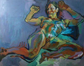 Evening Nude 2012 32x40 Original Painting - Piotr Antonow