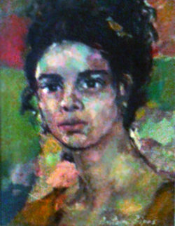 Portrait of a Girl 12x8 Original Painting by Anton Sipos