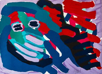 Another Blue Head Again 1978 Limited Edition Print - Karel Appel