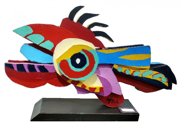 Flying Fish Wood Sculpture 1977 32 in