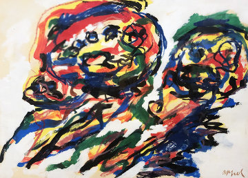 Two Heads Limited Edition Print - Karel Appel
