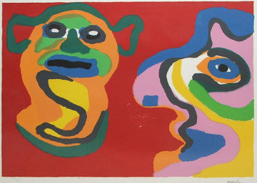 Waiting for the Second Kiss 1974 Limited Edition Print - Karel Appel