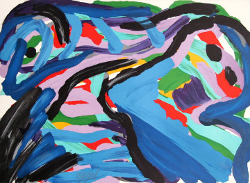 Floating in a Landscape 1980 Limited Edition Print - Karel Appel