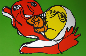 Putting Green Kiss 1978 Limited Edition Print - Karel Appel