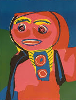Fille Souliante 1969 Limited Edition Print - Karel Appel