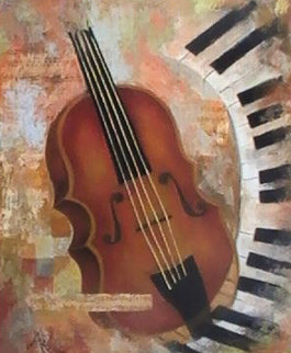 Instruments of Time 26x22 Original Painting - Arbe Berberyan