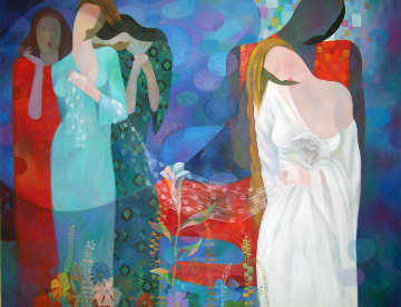 Love Song 36x48 Original Painting - Arbe Berberyan