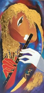 Piccolo Music 40x25 Original Painting - Arbe Berberyan