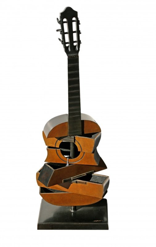 Guitar Bronze Sculpture 1995  29 in