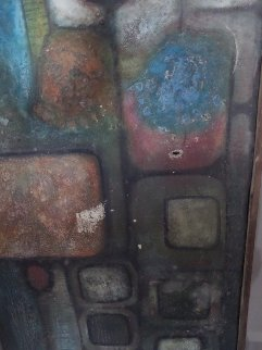 Untitled Painting 1969 40x36 Original Painting - Gustavo Ramos Rivera
