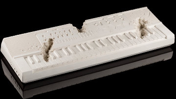 Future Relic 9  (Keyboard) Plaster and Glass Sculpture 2018 40 in Sculpture - Daniel Arsham