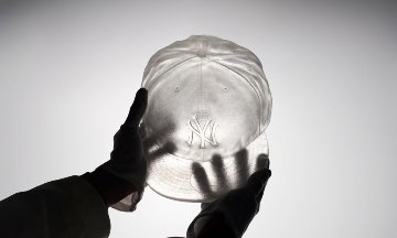 Crystal Relic 001 Yankees Hat Crystal Sculpture 2019 8 in Sculpture - Daniel Arsham