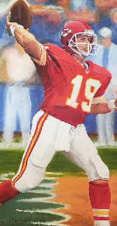 Untitled (Joe Montana) 1997 59x35 Original Painting - Thomas Arvid