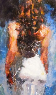 Trilogy Suite Blue Rhapsody, Scarlet Beauty And Graceful Slendor 2009 Embellished Limited Edition Print - Henry Asencio