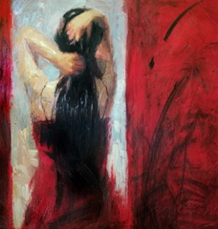 Red Door Embellished 2003 Limited Edition Print - Henry Asencio