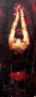 Surrender 17x32 Original Painting - Henry Asencio
