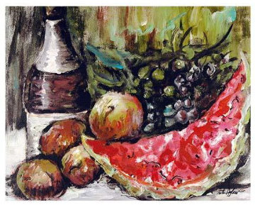 Fruit Still Life Suite of 3 LIthographs Limited Edition Print - Rita Asfour