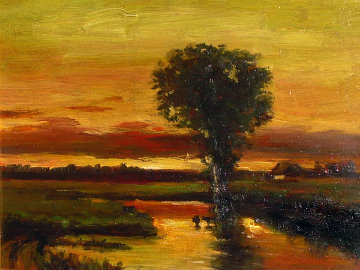 Golden Sunset 1983 16x21 Original Painting -  Ashot