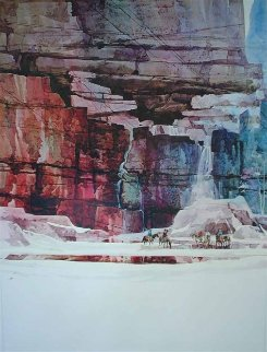 Waterfall 1 And 2, Diptych 1988 Limited Edition Print - Michael Atkinson