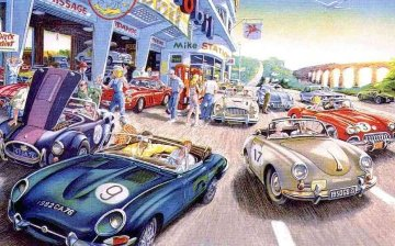 Rallye Sixties Limited Edition Print by Daniel Authouart