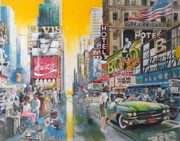 Times Square, New York 1991 Limited Edition Print - Daniel Authouart