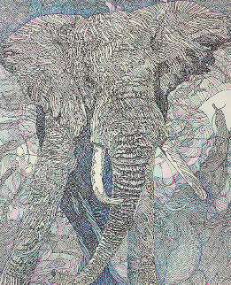Clair De Lune Elephant AP Limited Edition Print - Guillaume Azoulay