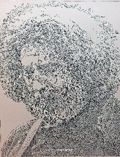 Jerry Garcia Drawing 2016 18x16 Drawing - Guillaume Azoulay