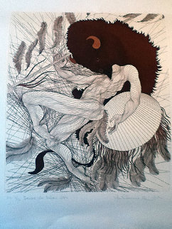 Dance Du Bison 1986 Limited Edition Print - Guillaume Azoulay