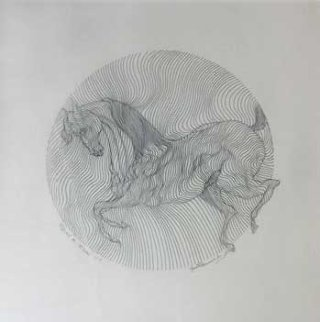 Equus Drawing 2002 Drawing - Guillaume Azoulay