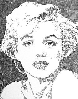 Etude (Marilyn Monroe) Drawing 2015 10x8 Drawing - Guillaume Azoulay