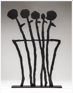Black Flowers Sculpture 2019 26 in Sculpture - Donald Baechler