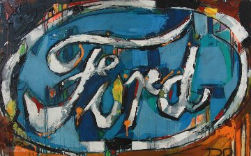 Ford 37x58 Original Painting - David Banegas