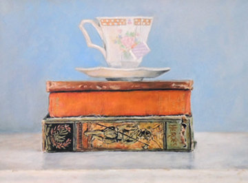 Tea Time 2016 17x14 Original Painting - Camille Barnes
