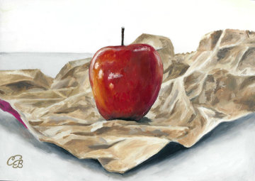 Bag an Apple 7x9 Original Painting - Camille Barnes