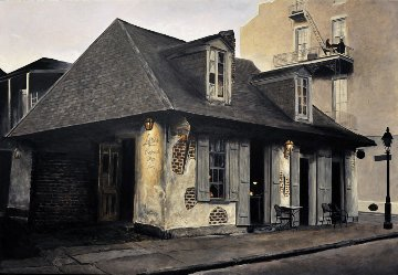 Lafitte's Blacksmith Shop - New Orleans 2013 18x26 Original Painting - Camille Barnes