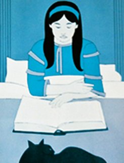 Child Reading Red AP Limited Edition Print - Will Barnet