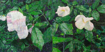 White Roses PP 2013 Limited Edition Print - Jennifer Bartlett