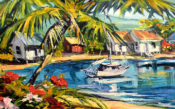 Beach Villas 2011 Embellished Limited Edition Print - Steve Barton