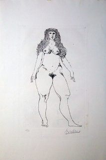 Standing Nude 1992 Limited Edition Print - Leonard Baskin
