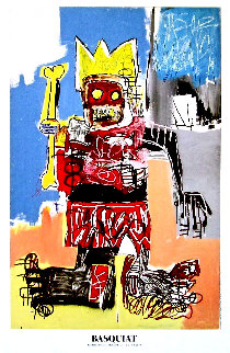 Beyerler Museum Crown Poster 1982  Limited Edition Print - Jean Michel Basquiat
