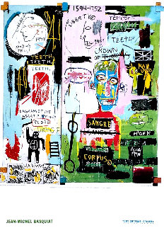 Shafrazi Gallery In Italian Poster 2004  Limited Edition Print - Jean Michel Basquiat