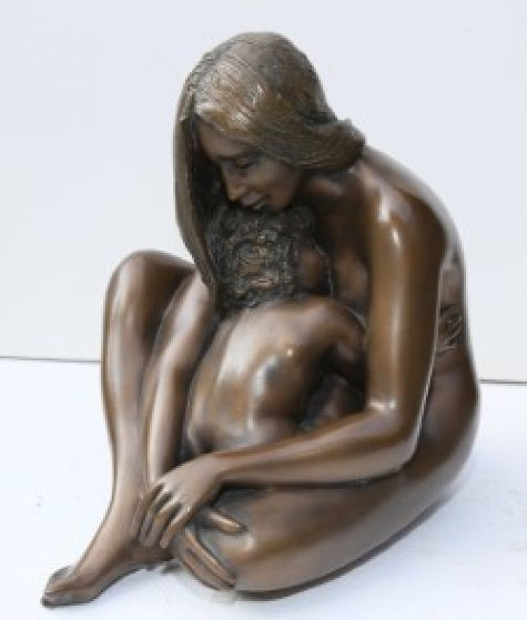 Amore Materno Bronze Sculpture 13 in